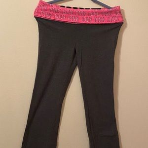 Pink Victoria's Secret Gray and Pink Pants